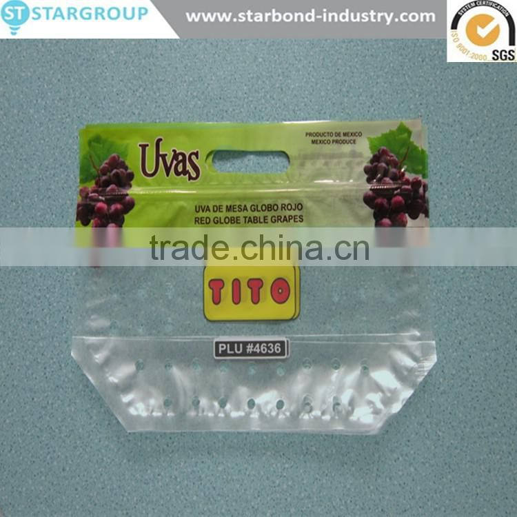 made in china high quality fresh fruit grape bag for fruit and vegetable package with holes