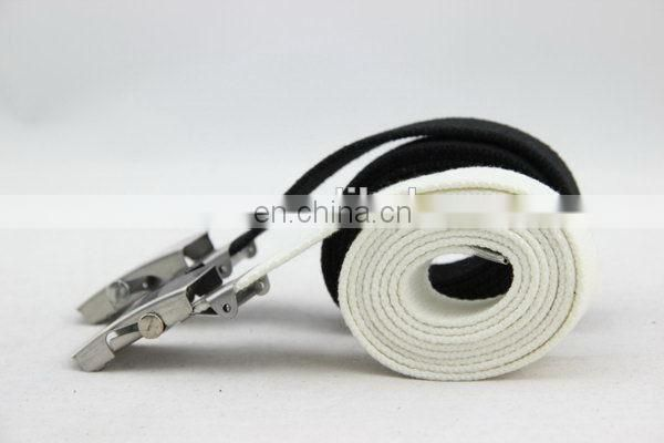 Canvas Belt With Metal Buckle Flat Belt Buckle Hardware
