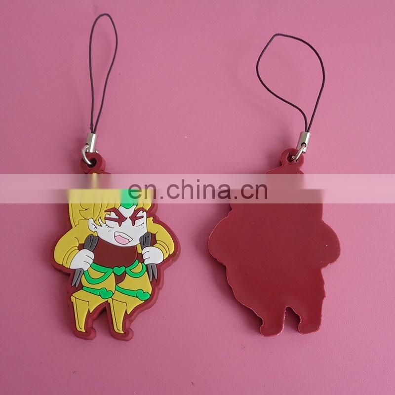 customized lovely cartoon image desgin holiday souvenir gift soft PVC keyring keychain