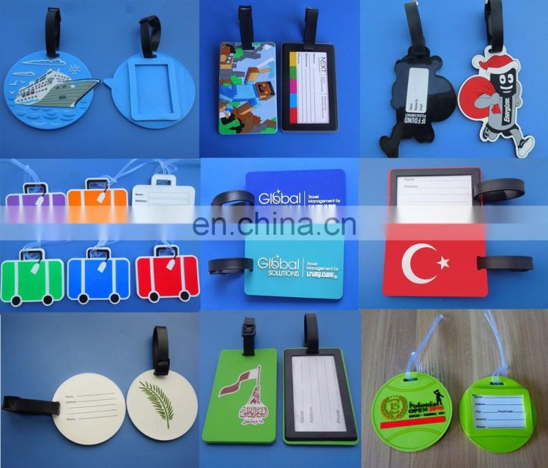 Luggage Suitcase Shape Soft PVC Name IDs Baggage Tag