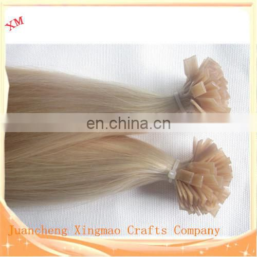 HOT Selling Double Drawn Flat Tip Hair Extension Virgin Remy TOP Quality Human Hair