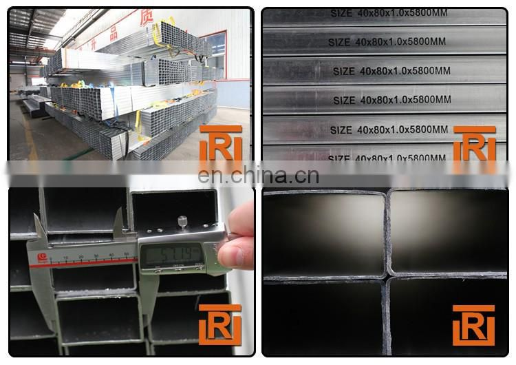 Tianjin gi z150 galvanized square steel pipe square rectangular pipe