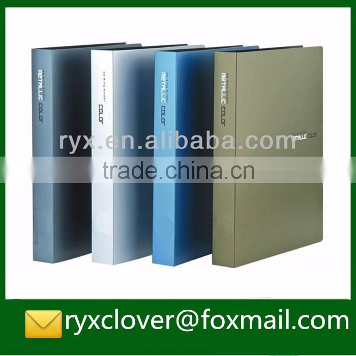 High quality business file PVC & cardboard cover ring binder document folder