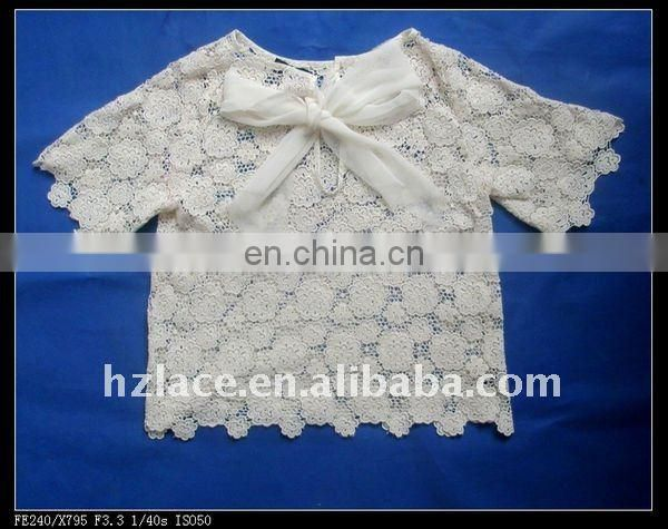 100% Cotton embroidery neck lace