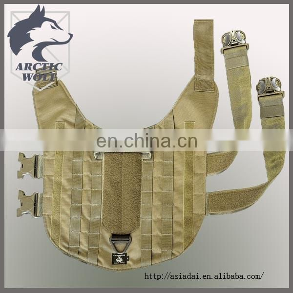 2017 K9 Tactical Hunting Dog Vest Molle Cape Harness