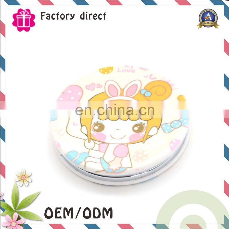 Full printing custom handhold foldable cosmetic pocket mirror