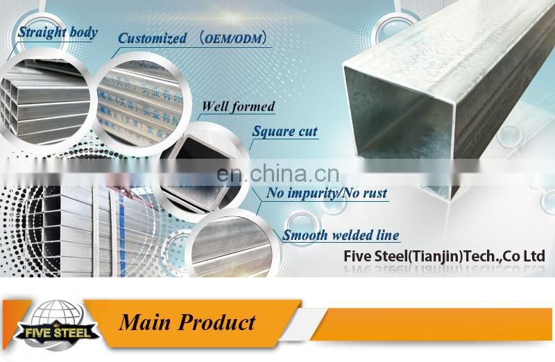 pre galvanized structural steel pipe profiles
