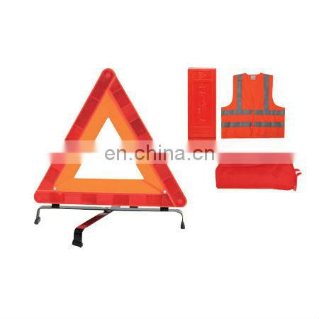 E-MARK Car Accident Kits with Warning Triangle and Safety Vest and Made of 120gsm knitting fabric