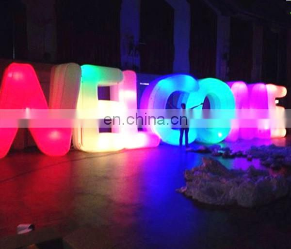 Lighting inflatable letters for event decoration