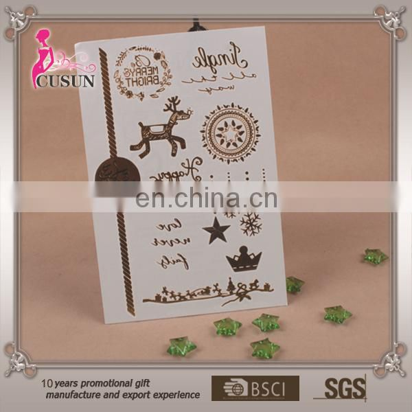 NEW Metallic Gold Silver Temporary Tattoos Jewelry Flash body Bling Stickers