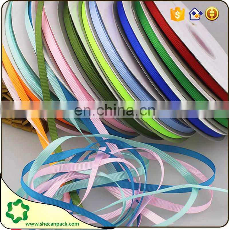 SHECAN Bulk sell Size 1/4 inch 6mm Grosgrain Ribbon 100 meters