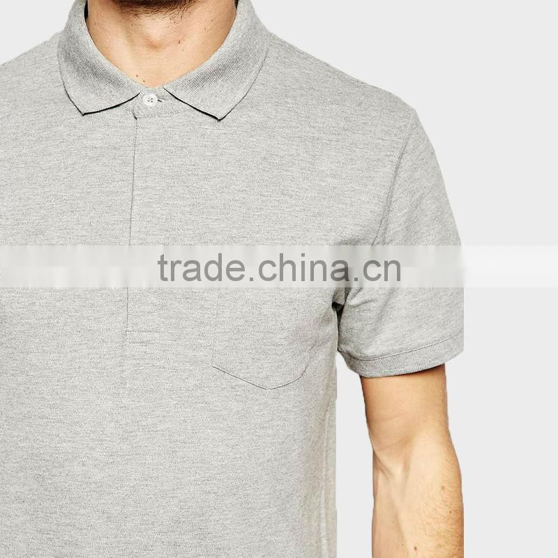 2015 Men Polo Shirt with Ribbon