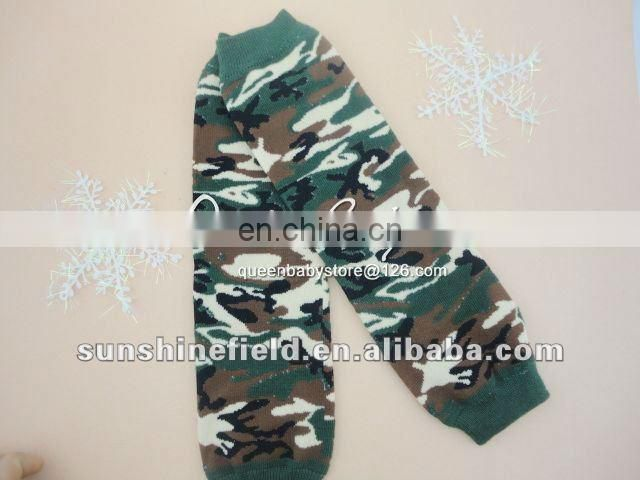 Stock! Baby Camouflage Leg Warmers Green Camo Kids Leg Warmer Baby Leg Warmers