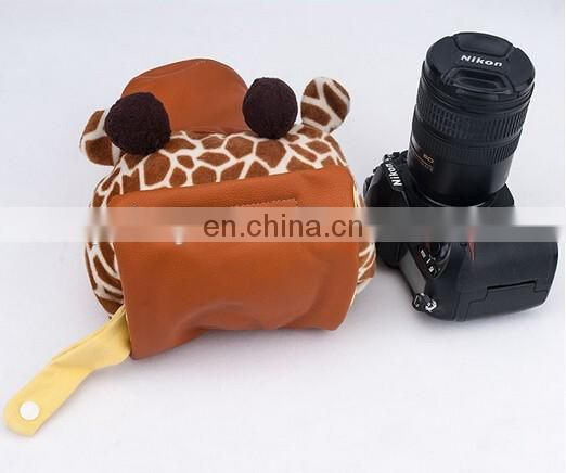 High Quality Plush Leater Camera Bag