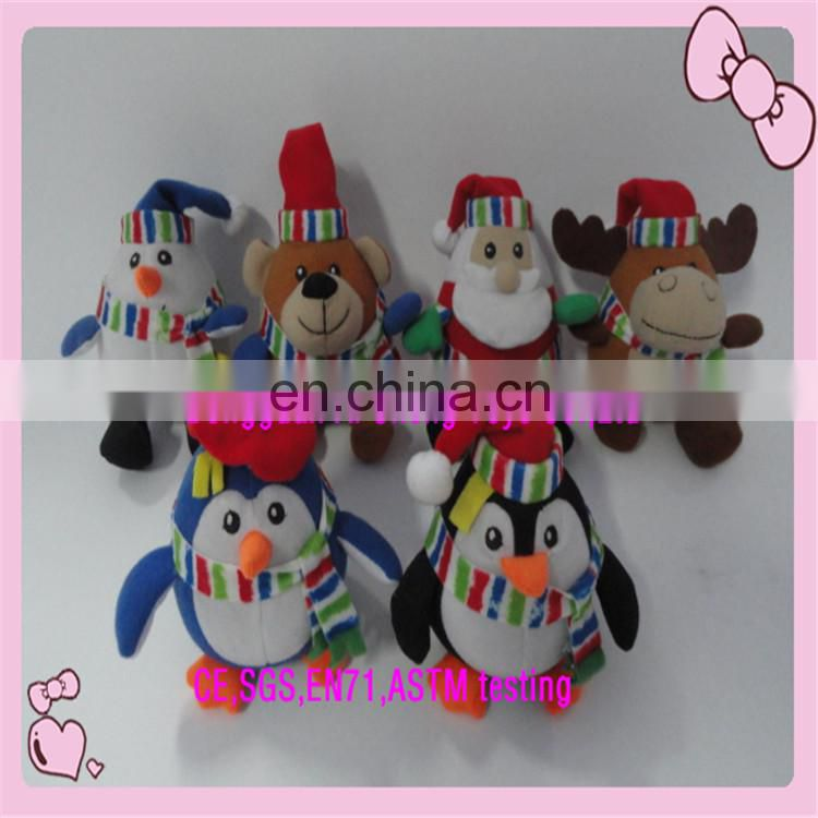 OEM plush stuffed snowman christmas decoration toys