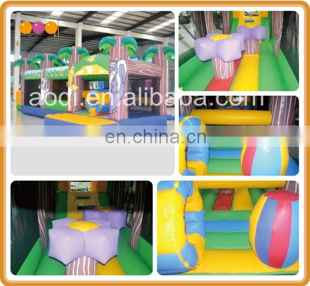 AOQI new style inflatable product floating zoo inflatable obstacle course for park