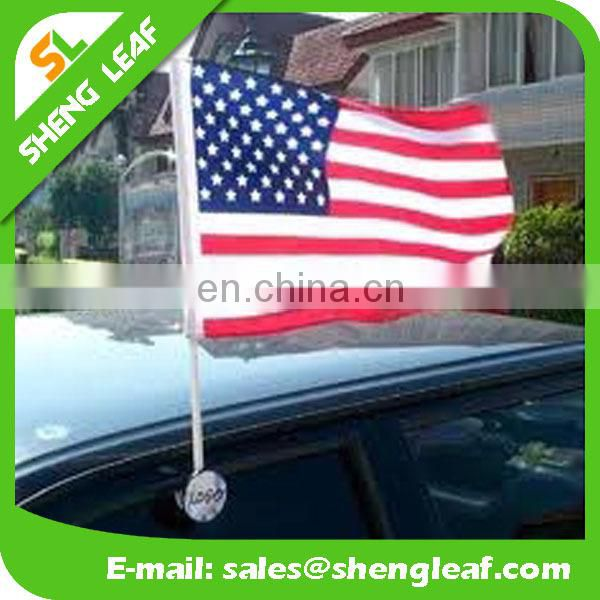 2017 Hottest!!! Custom Plastic Window Car Flag Pole