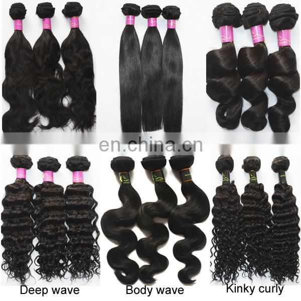 No tangle no shedding brazilian virgin hair non remy double drawn hair