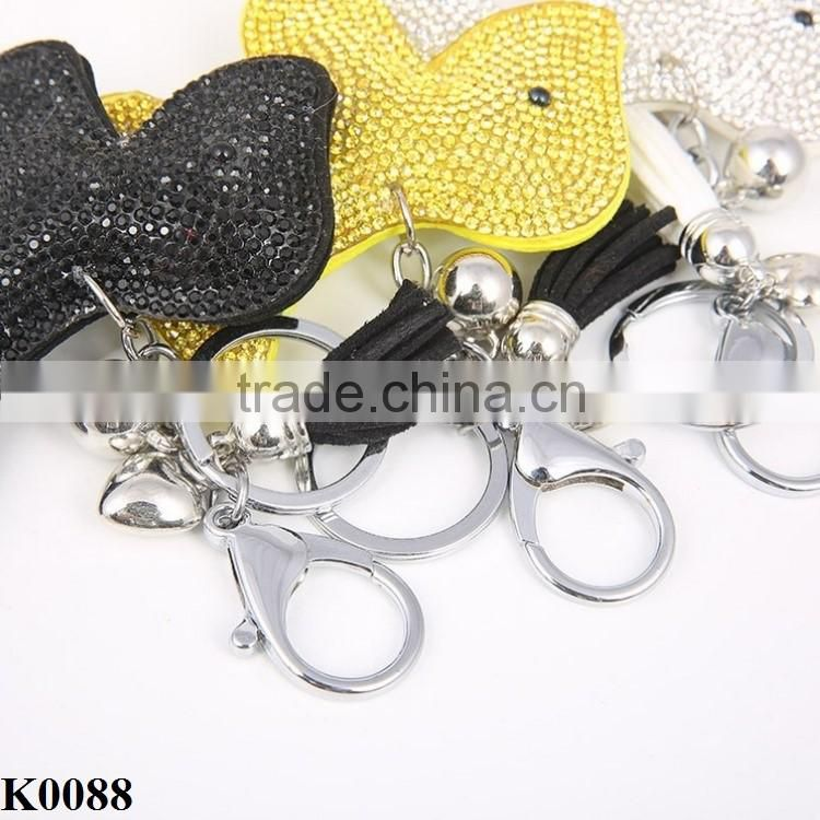 Factory Price candy-colored keychain cute dog shaped animal key chain keyring wholesale K0088