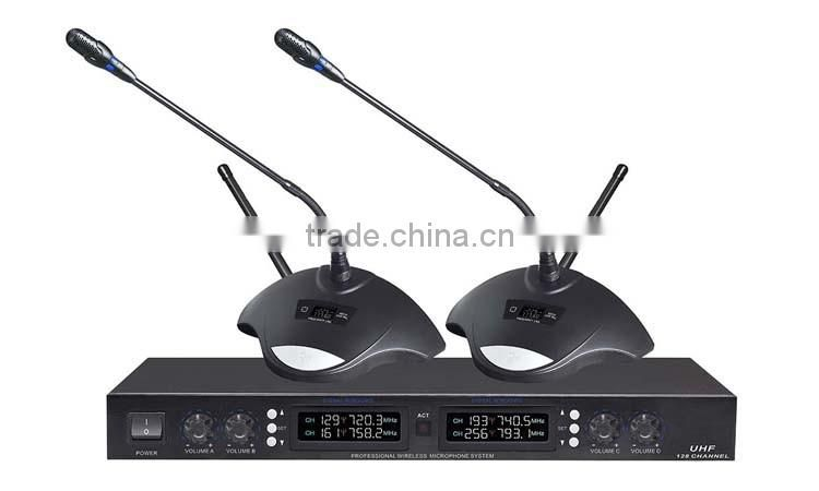 CMS-U604 UHF system fm true diversity table stand transmitter conference wireless microphone