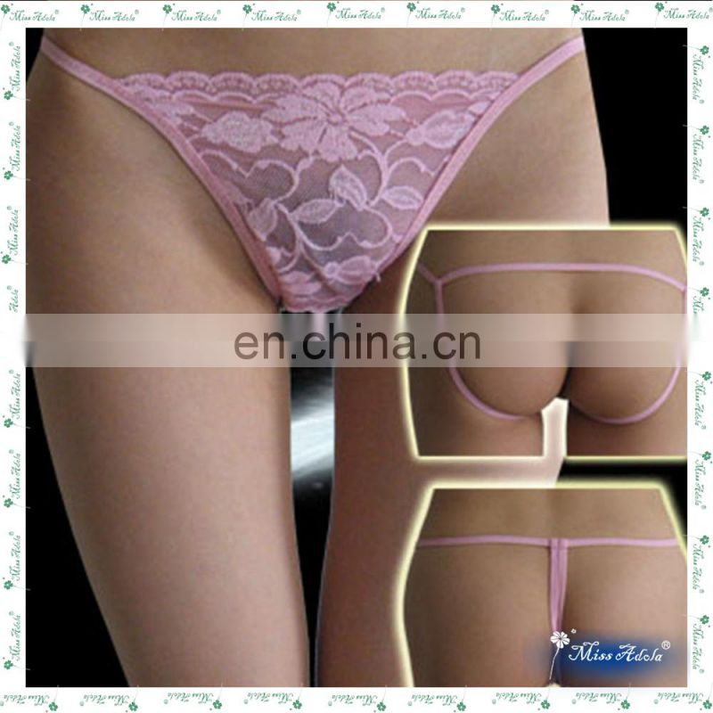 Hot selling beautiful sexy thong sexy lace G-STRING intimate ladies panties stock women sexy transparent underwear