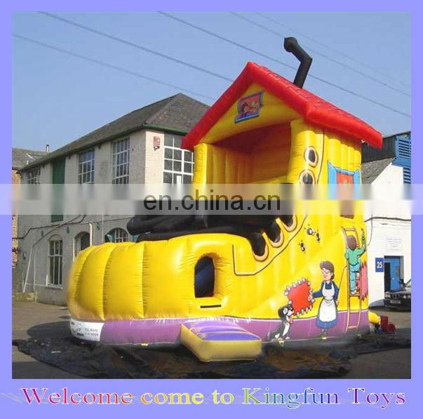 Action inflatable dry slide