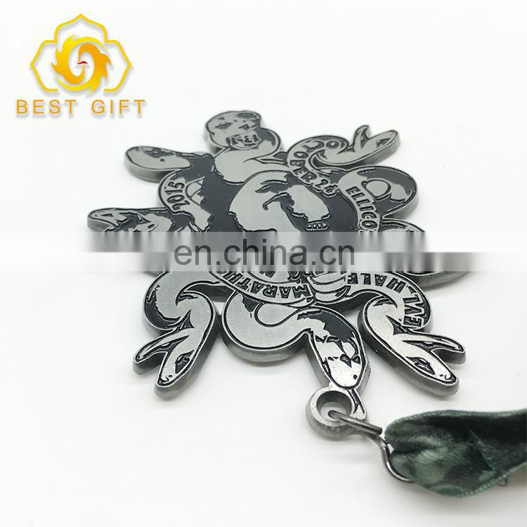 Competition Custom 3D Award Metal Running Sports Medal With Ribbon