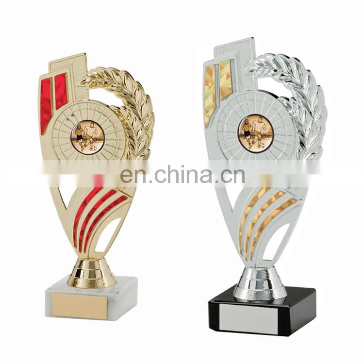 Personalized souvenir gifts metal tropy fihurines fishing baseball trophy