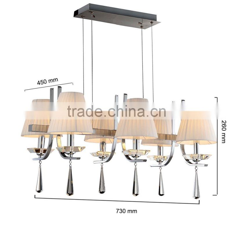 2015 hot sale china chandelier wrought iron pendent lamp for restaurant