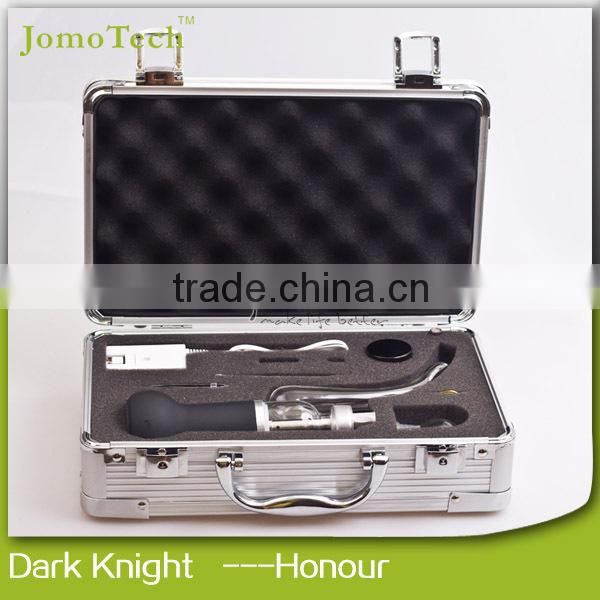 2015 top seller Jomotech dark knight honor mod ceramic heater wax dry herb vaporizer kit with safe box