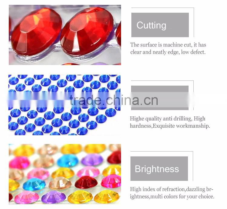 Set Of 4 Heart Star Stick On Self Adhesive Gems Colorful Rhinestones, Scrapbooking DIY Craft Acrylic Crystals