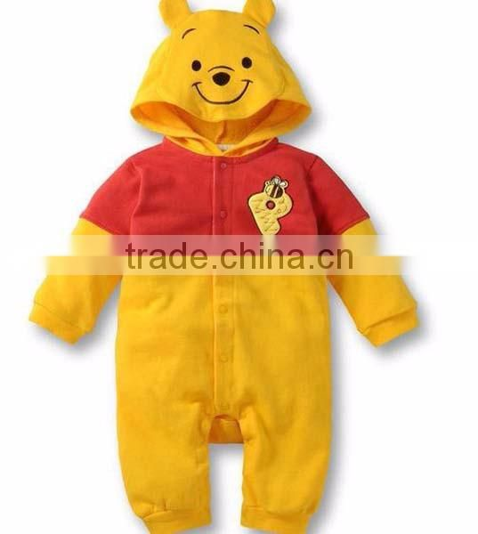 new design cartoon tiger hooded babysuits