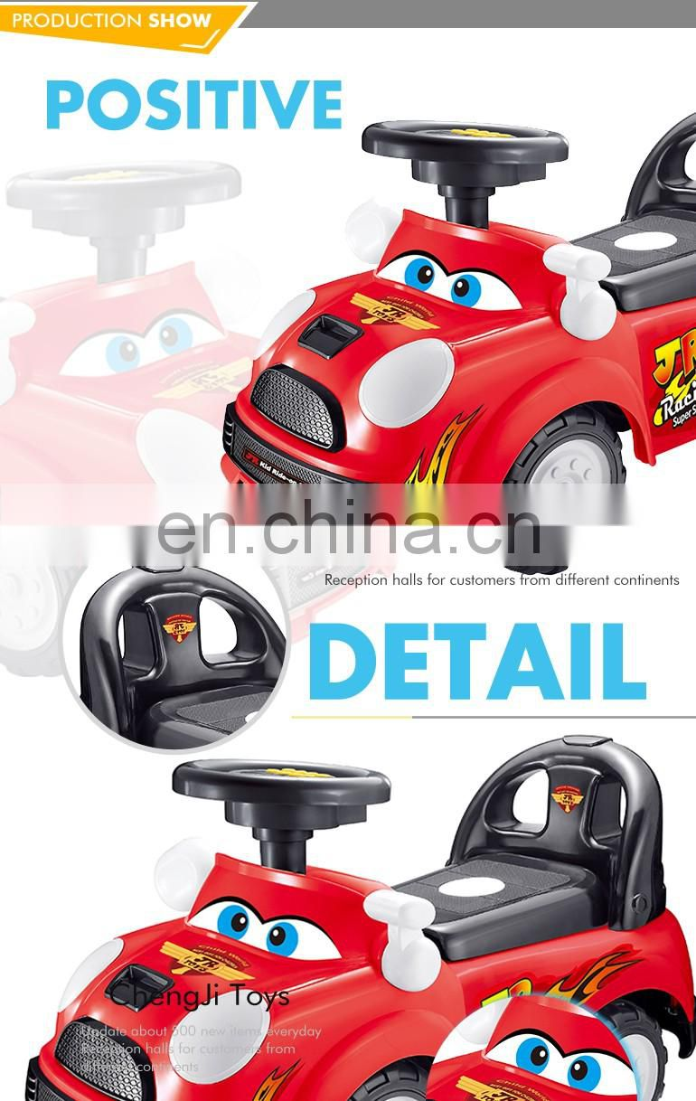 Alibaba plastic soft ride on toy sliding baby magic car with music