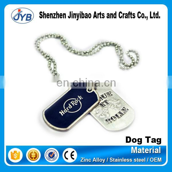creative metal blank hang dog tag for wholesale