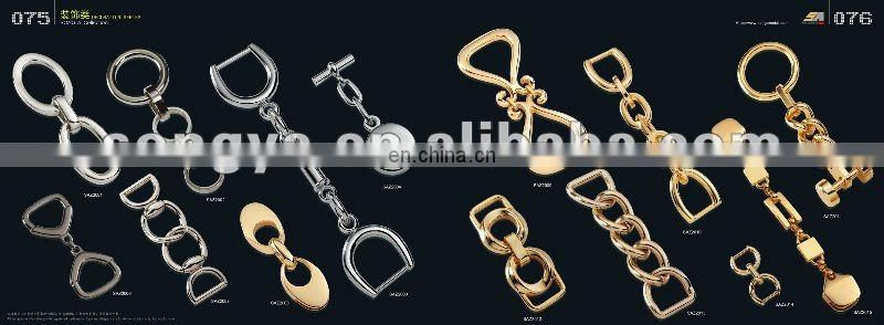 Long metal chains for bags,bag chain with rose gold plated
