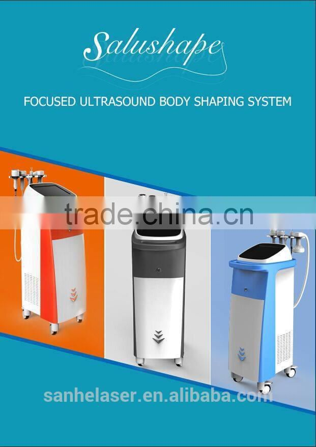 high intensity focused rf ultrasound HIFU body slimming machine