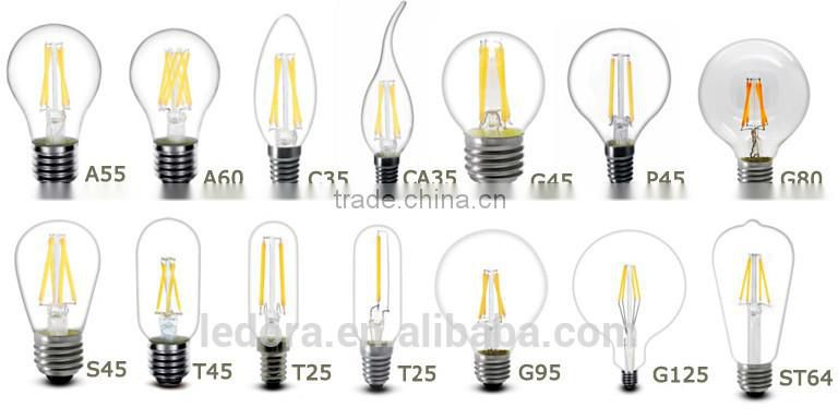 Decoration candle light Clear Frosted Milky led bulb lamp of