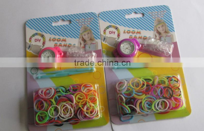 Cheapest manufacturing silicone bracelets rainbow loom watches 2014