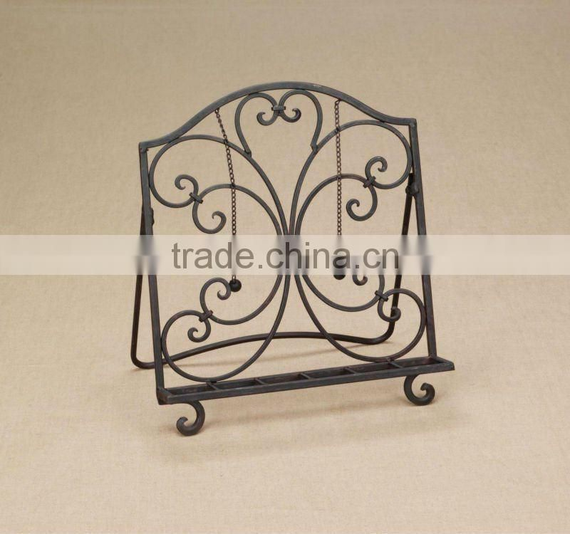Hot Sale Cheap Black Color Wrought iron Book Stand