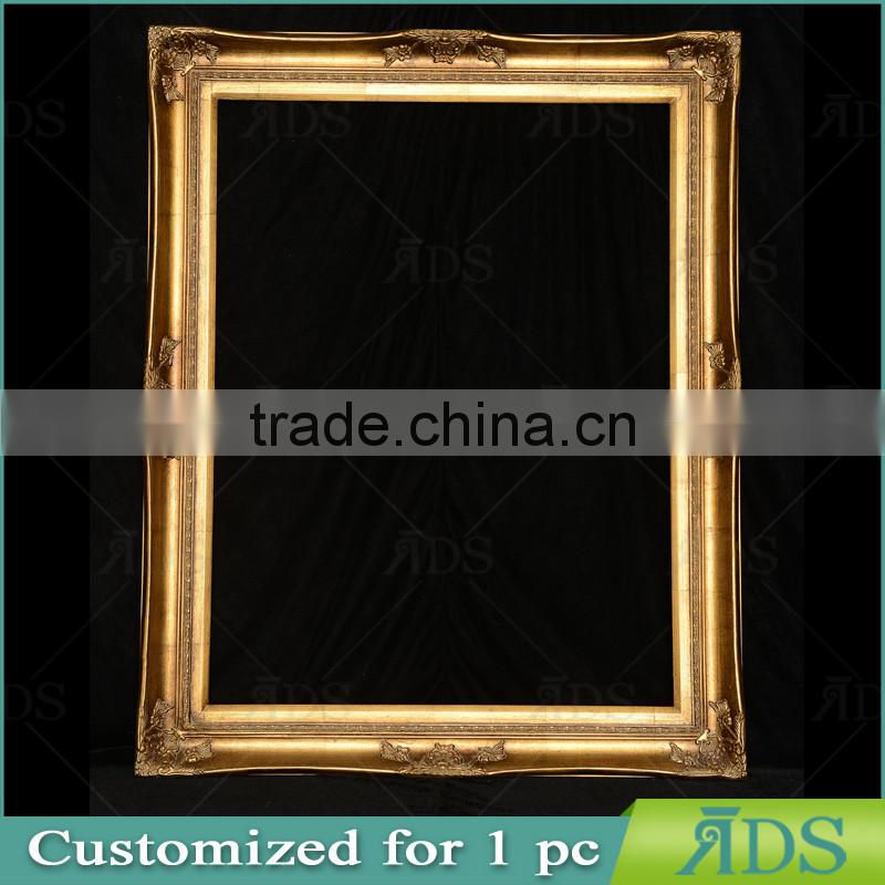 Wooden Gold Frame Ads010028 Goldfoil Ornate Frame in 36X48'' Size