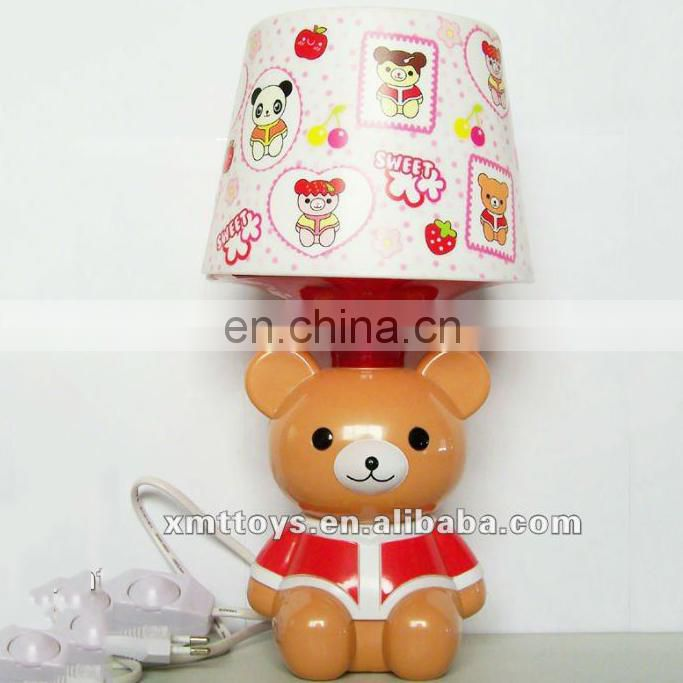 resin children bear table lamp