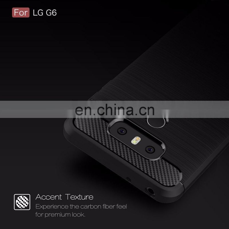 for LG G6 High End Brushed TPU Phone Back Cover Case