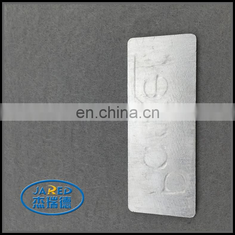 Elegant Silver Metal Crafts Custom Embossed Name Brushed Aluminum Label