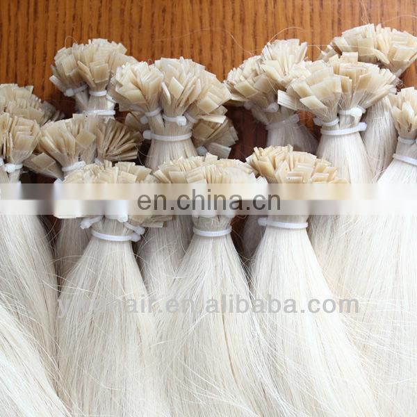 Wholesale Selling Flat Tip Hair, Peru 100% Human Hair Extension #1B Off Black