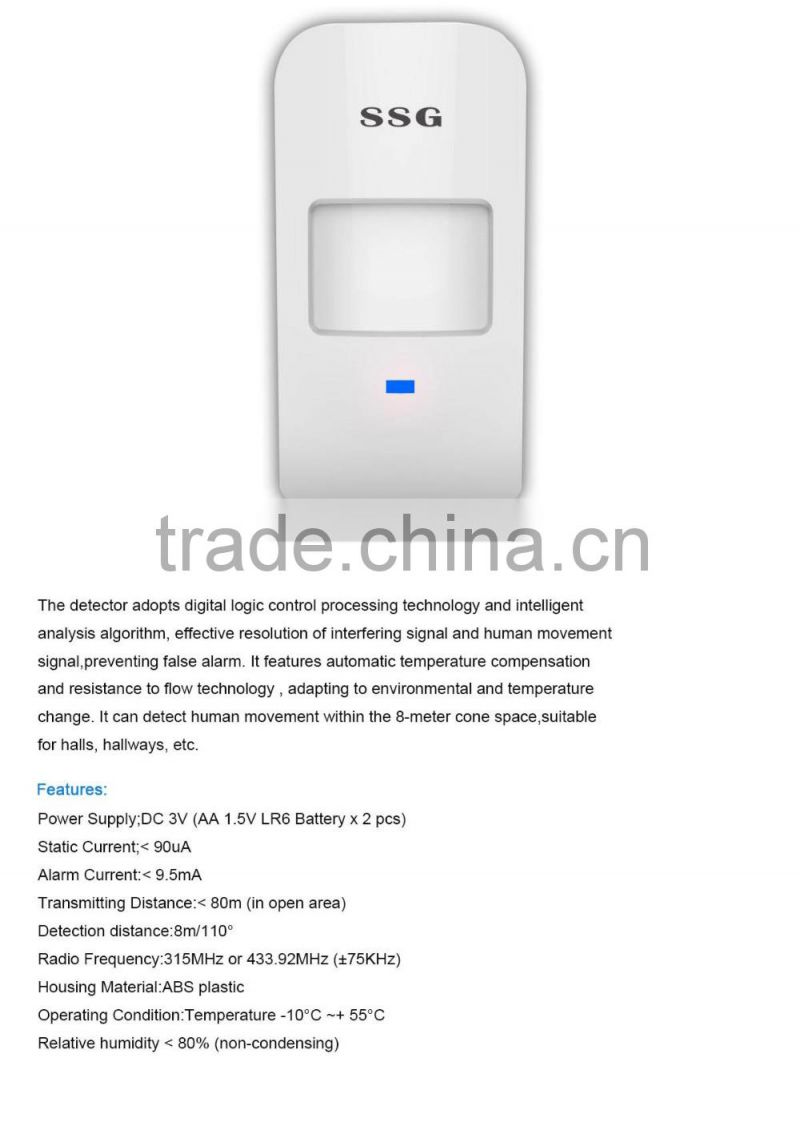 safe alarm system accessories such as remote controlers PIR motion sensors door or window sensors doorbell RFID tags