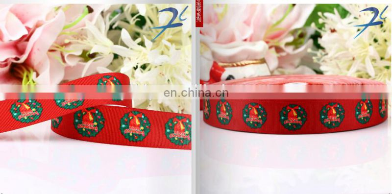 hot sell stock printed christmas ribbon