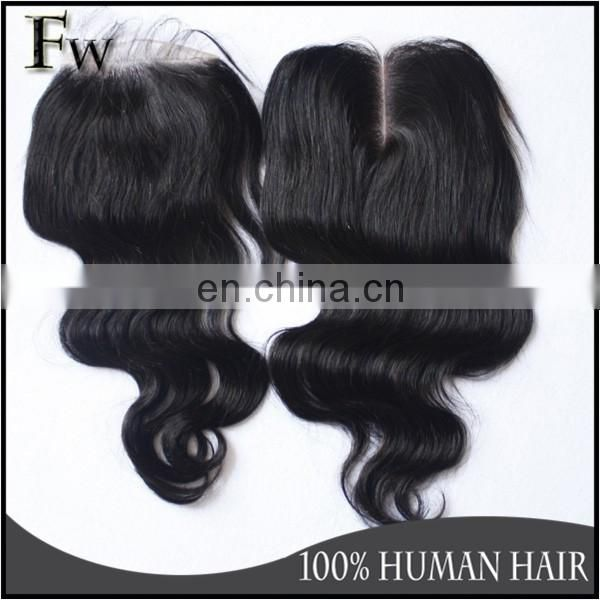 In stock natural balck 4x4,5x5 size free parting lace closure