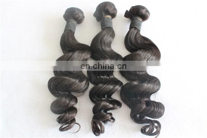 Peruvian Virgin Hair Loose Wave Bundles 7A Grade Unprocessed Human Hair Weave
