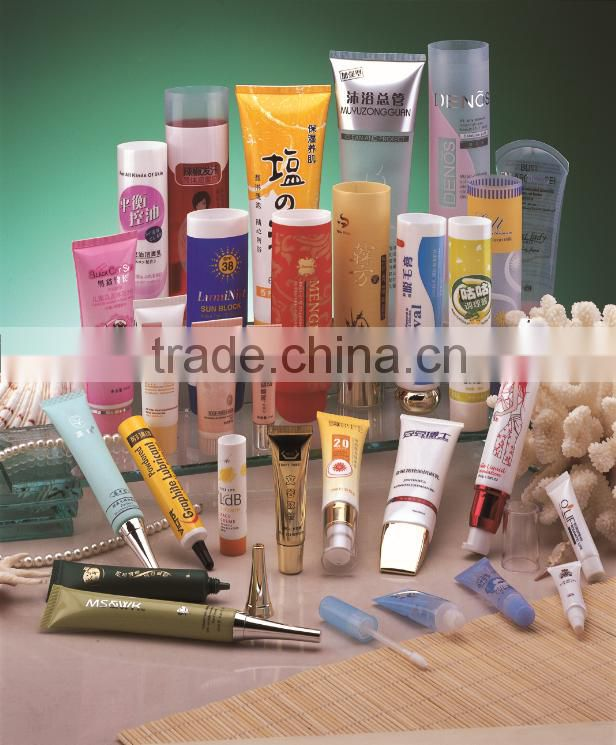 19mm Beauty lip balm containers wholesale clear cosmetic packaging tube nozzle head plastic tube