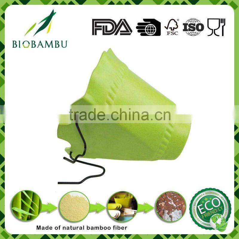 Degradable Affordable Endurable bamboo fiber hanging flowerpot